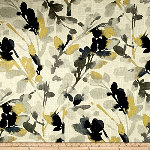 WAVERLY Leaf Storm Linen Fabric, Graphite ()