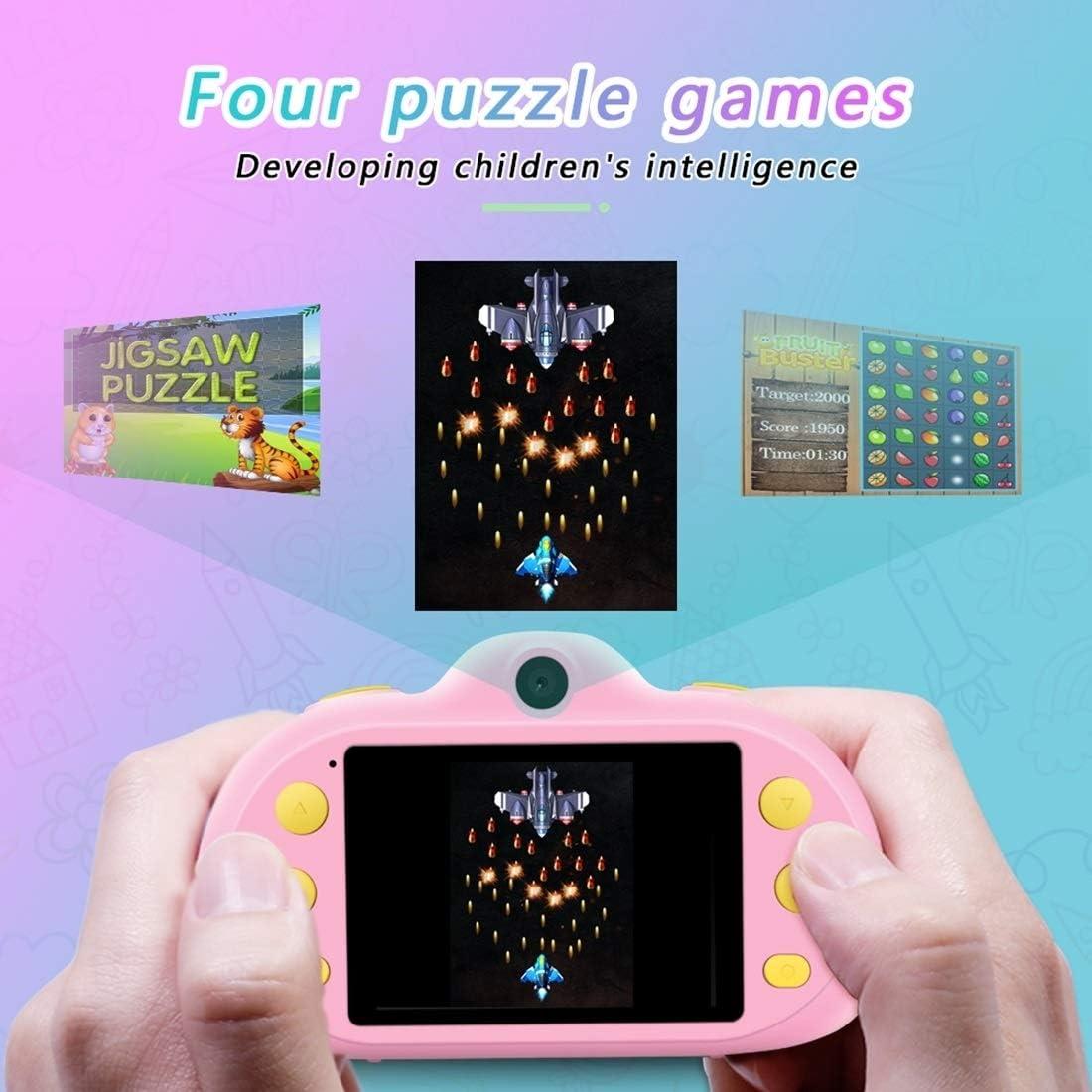 Für Kinder Digitalkamera CMF P8 2.4-Zoll-Acht-Megapixel-Doppel-Objektiv Kinder-Kamera, Unterstützung for 32 GB TF-Karte (Grün) (Color : Pink) Pink