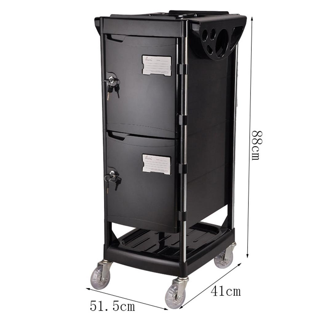 Royal@ Beauty Salon Hair Care Product with Lock Tool Cabinet, Double Door with Drawer Beauty Spa Dedicated Trolley by Beauty trolley (Image #7)