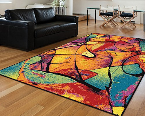 Delightful Universal Rugs Contemporary Abstract 7 Ft. 10 In. X 10 Ft. 3 In