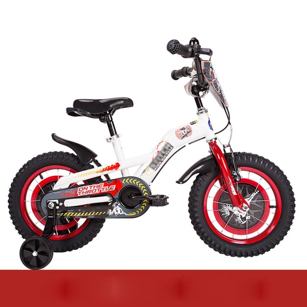 HAIZHEN マウンテンバイク 子供用自転車 トレーニングホイール付きの少年の自転車と少女の自転車 12インチ、14インチ、16インチ、18インチ 子供用ギフト 新生児 B07C6V7HG7 14 inch|赤 赤 14 inch