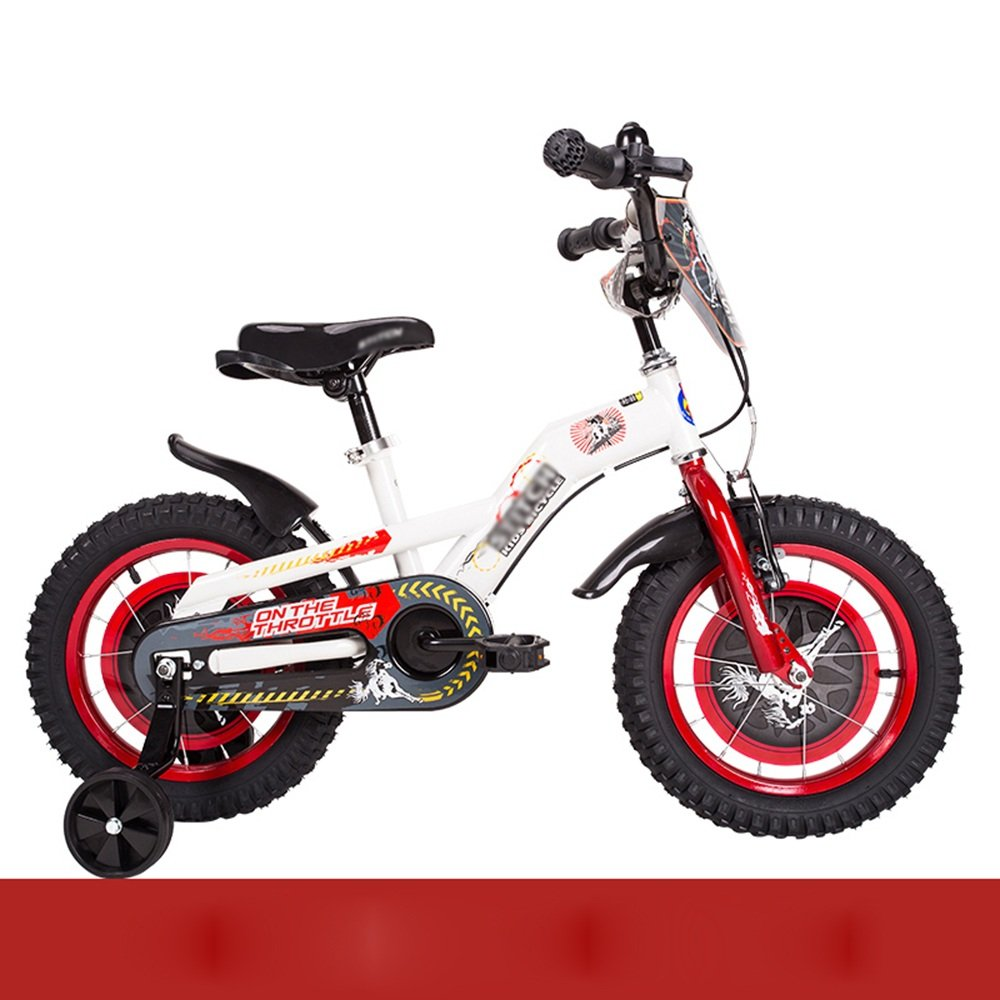 ZHIRONG 子供用自転車 トレーニングホイール付きの少年の自転車と少女の自転車 12インチ、14インチ、16インチ、18インチ 子供用ギフト ( 色 : 赤 , サイズ さいず : 14 inch ) B07CRL8NZY 14 inch|赤 赤 14 inch