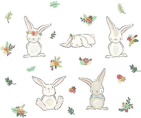 BUNNY RABBIT Profile Cute Animal Vinyl Decal Stickers