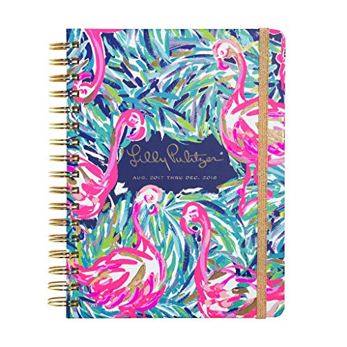 Lilly Pulitzer 17 month Large Agenda 2017-2018 (Flamingo Beach)