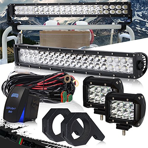 d LED light bar W/Horizontal Bar Clamp Mounting Kit 1