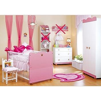 Babyzimmer Kleine Prinzessin Schrank Kommode, Bett und Lattenrost ...