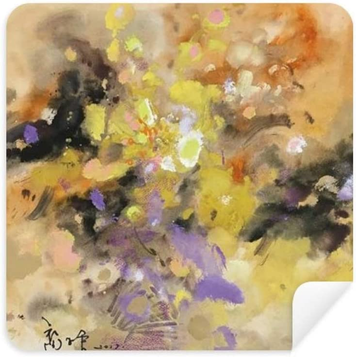 Autumn Fall Oil Painting Art Still Life Flower Glasses Cleaning Cloth Phone Screen Cleaner Suede Fabric 2pcs