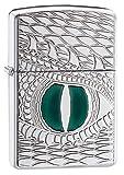 Zippo Armor Dragon's Eye Pocket Lighter, High Polish Chrome