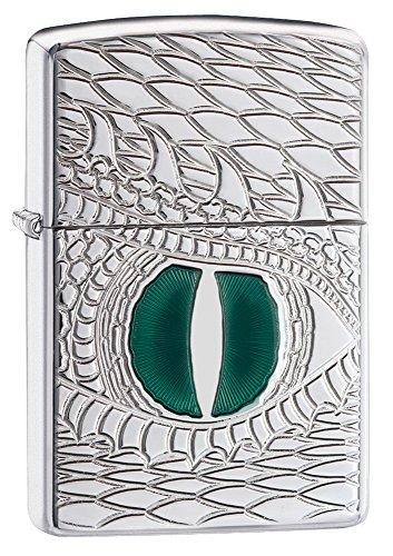- Zippo Armor Dragon's Eye Pocket Lighter, High Polish Chrome