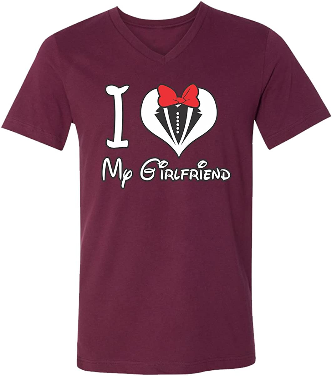 I Love Heart My Girlfriend V-Neck T-Shirt