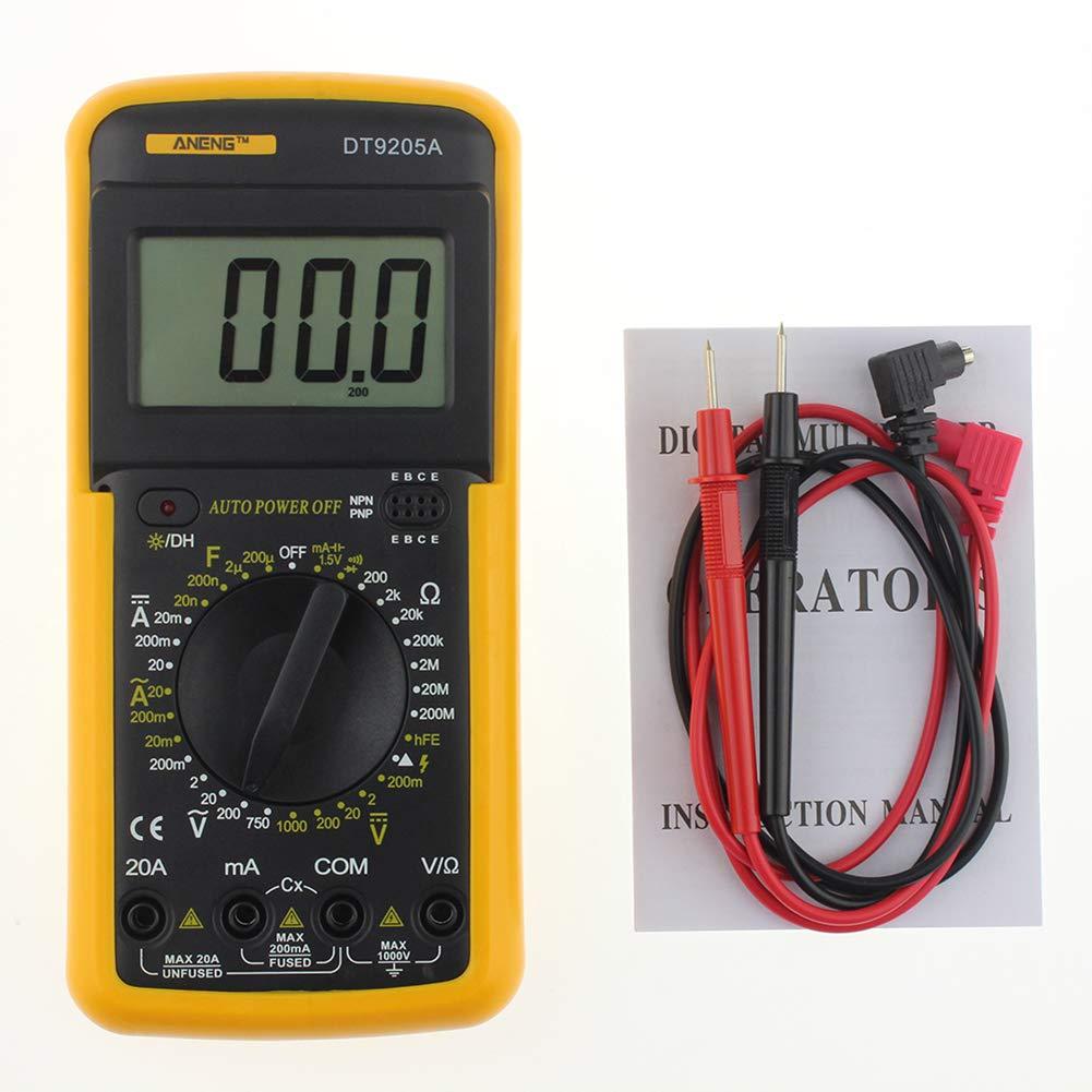Huhuswwbin Multimetro Digitale Lcd Ac//Dc Amperometro Voltage Capacitance Resistance Tester Tool
