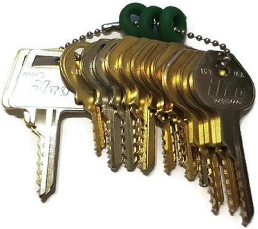 Amazon.com: MSPowerstrange - Juego de llaves de candado (15 ...