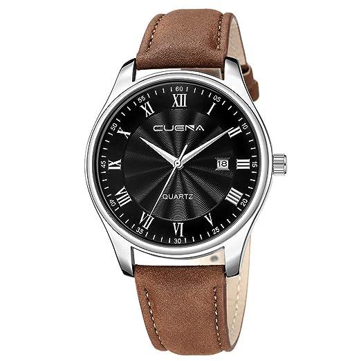 ... Acero Inoxidable - Reloj de Pulsera de Ocio❤Relojes Hombre Deportivos automaticos Acero Inoxidable analogicos acuaticos Elegantes: Amazon.es: Relojes