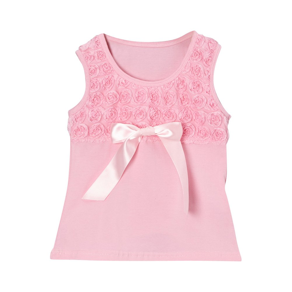 Share n' Smiles Girls Rosette Tank (Choose Color and Size)