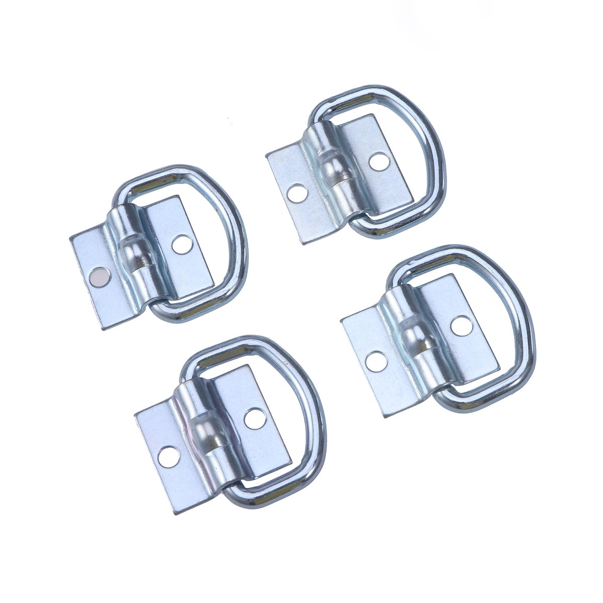 WINOMO 4pcs Tie Down D Ring Load Anchor Trailer Anchor Lashing Ring for Cargo Truck