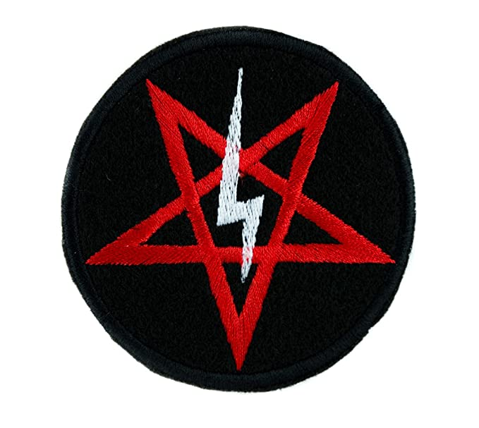 Amazon Marilyn Manson Satanic Pentagram Symbol Patch Iron On