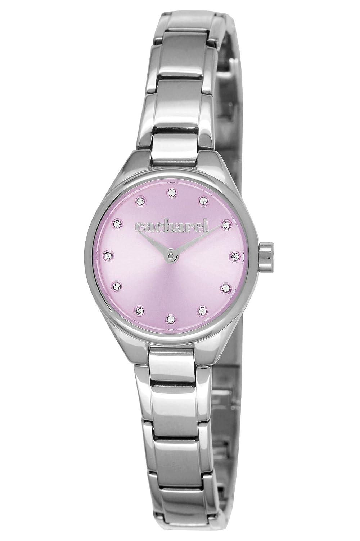 Cacharel - CLD 045-OM Damen-Armbanduhr - Quarz - analog - vilettes Zifferblatt - Edelstahl-Armband - siberfarben