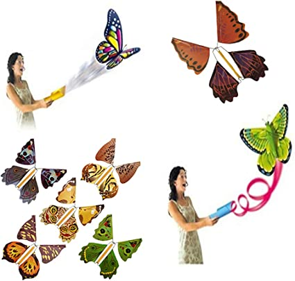 Flying Creative Toys Gift Flying Butterfly Trick Butterfly Toy Magic Prop