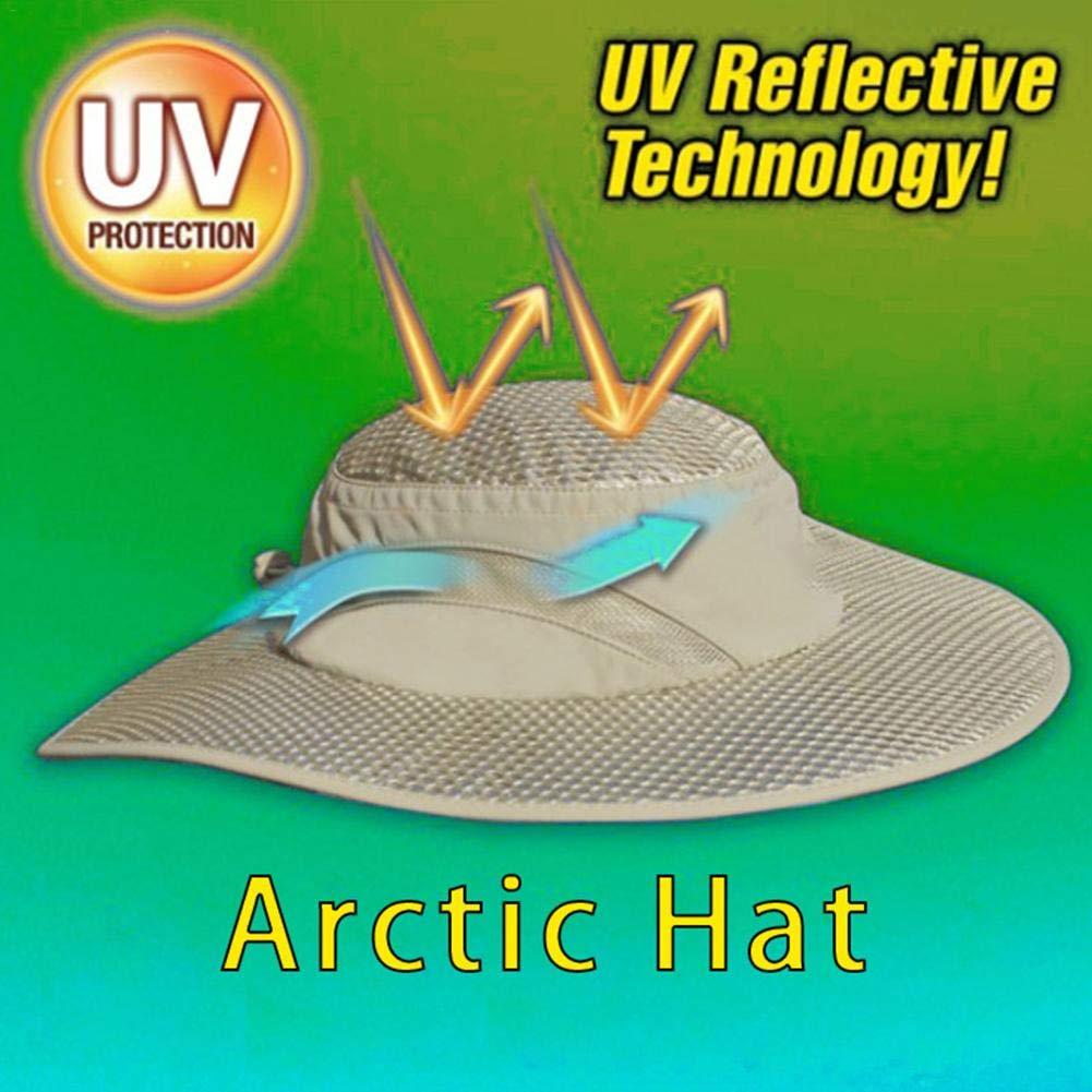 Chapeau de p/êcheur /à dissipation thermique /Ét/é Arctic Hat /Écran solaire Refroidissement Chapeau de climatisation Bouchon de glace pour femmes hommes Chapeau de seau de refroidissement