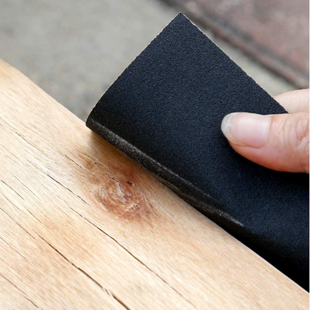 12 Sheets Kinvac Abrasive Dry Wet Waterproof Sandpaper,Assorted Grit of 400//600//800//1000//1200//1500 for Wood Furniture and Home Improvement