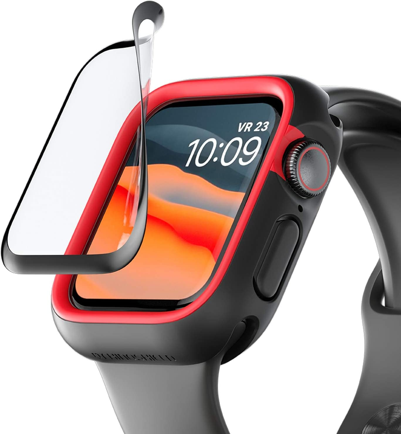 RhinoShield 3D Impact Screen Protector Compatible with Apple Watch SE [44mm] & Series 6/5 / 4 [44mm] | 3X Better Impact Protection - 3D Curved Edges for Full Coverage - Durable and Scratch Resistant
