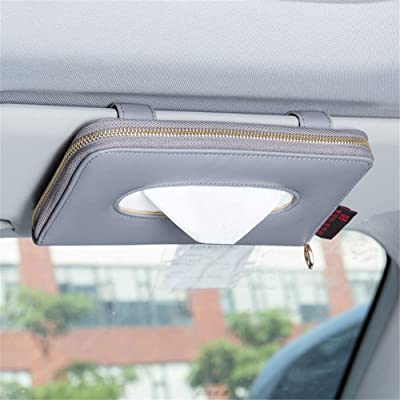 Fredyusu Car Tissue Box, Car Visor Tissue Holder, Car Tissue Holder, Premium Tissue case Holder for car (Gray): Automotive