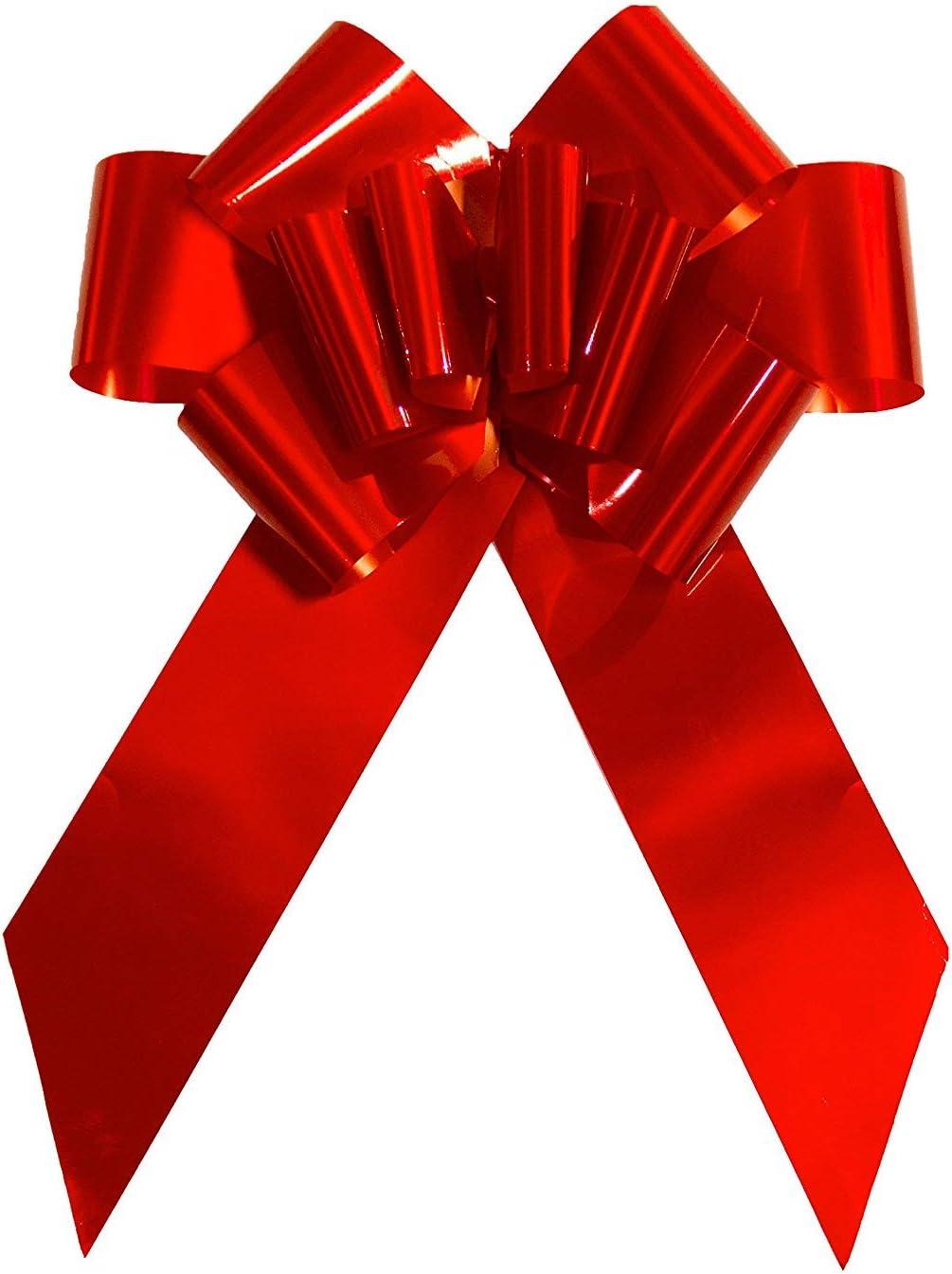 Yeeper Lazo Rojo de Regalo Grande para Boda, Coche, Mueble, Cumpleaños, Graduación o Comunión