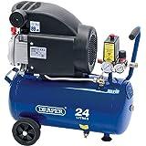 Draper DA25/207 24L 230V 2.0HP Air Compressor, 230 V, Blue, 24 L