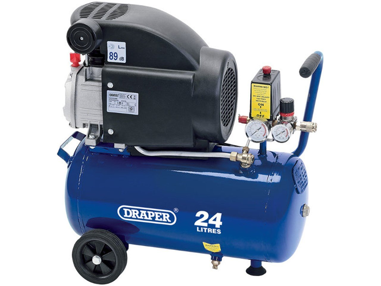 Draper DA25/207 24L 230V 2.0HP Air Compressor, 230 V, Blue, 24 L Draper Tools Limited