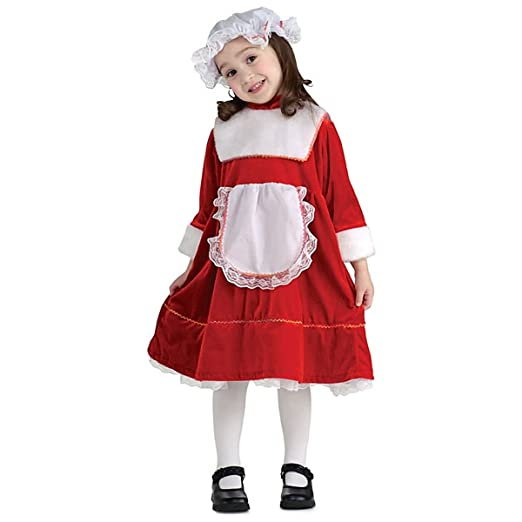 b4930670d Amazon.com: Unbranded Mrs Claus Costume for Kids Santas Little Helper  Christmas Outfit Fancy Dress: Clothing