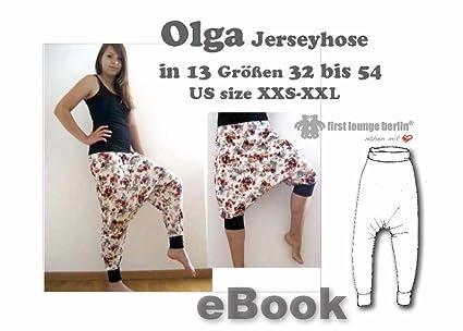 exzellente Qualität klar in Sicht attraktiver Preis Olga Jersey-Hose Haremshose Nähanleitung mit Schnittmuster ...