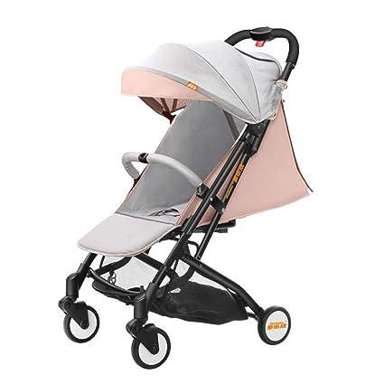 carrito de bebe Puede sentarse y acostarse Coche de bebé recién nacido Suspensión en las cuatro