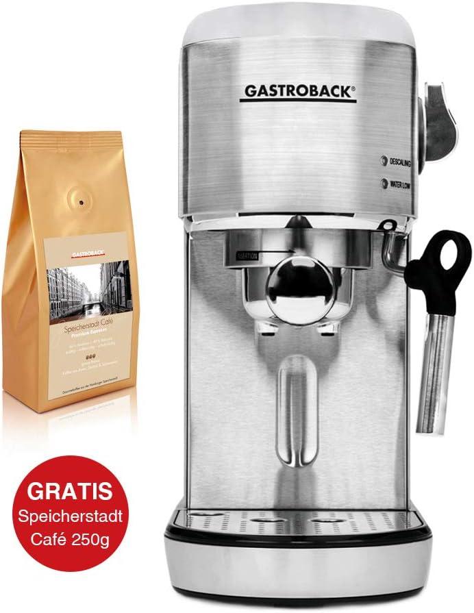 Gastroback Design Espresso Piccolo - Máquina de café espresso (incluye 1 cafetera de 250 g): Amazon.es: Hogar