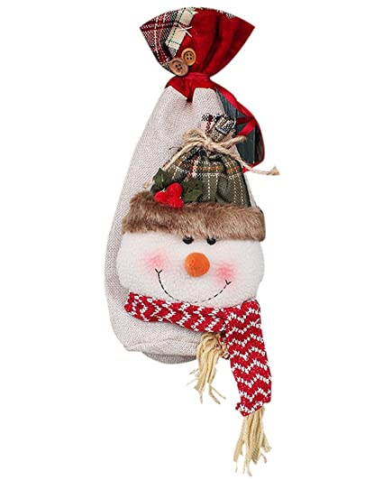 remeehi christmas candy bags drawstring gift bag pocket sweet candy xmas stocking handbag christmas ornaments home