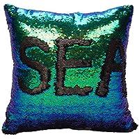 Idea Up Reversible Sequins Mermaid Pillow Cases 4040cm...