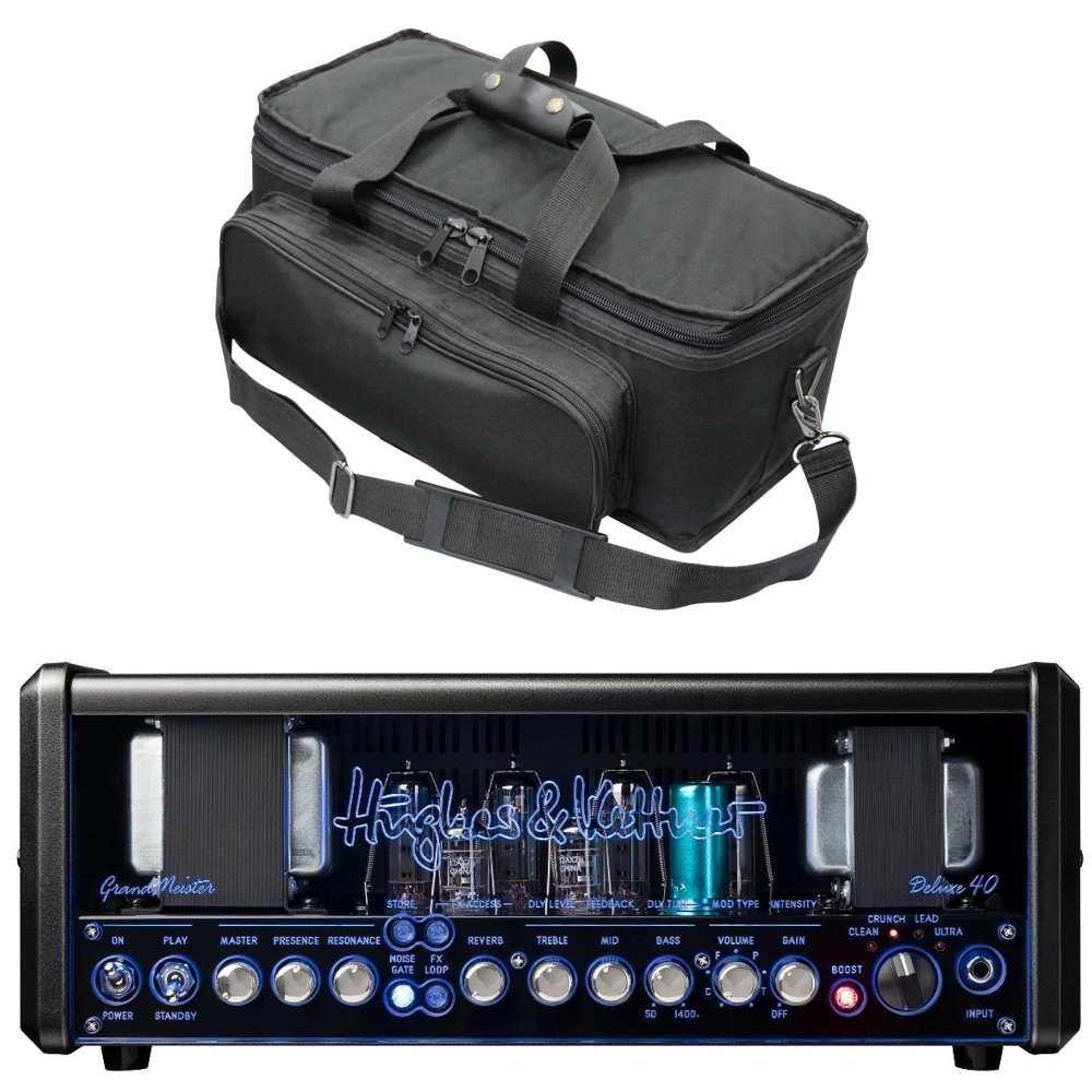 最も優遇の 【専用アンプバッグ付】Hughes & (HUK-GM40DX/H) Kettner GrandMeister Deluxe Deluxe 40 + & PSC-TM/H ギターアンプヘッド (HUK-GM40DX/H) B01MXUNF6G, オゴオリチョウ:ae0ab618 --- portfolio.studioalex.nl