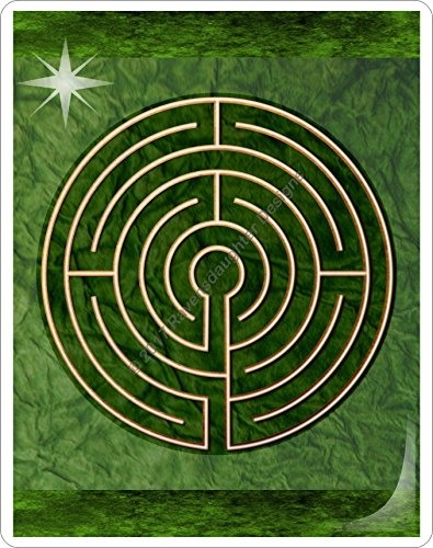 Finger Labyrinth Laminated Card 6-Pack 2: Focus Tools for Stress, Anxiety, PTSD, ADHD & Autism by Mandalynths (Image #4)