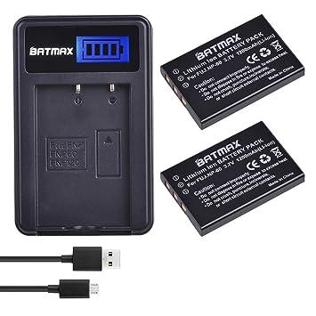 Amazon.com: Batmax FNP-60 NP-60 - Batería y cargador USB LCD ...