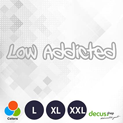 Decus Low Addicted//XXL//Pegatinas OEM JDM Style Pegatinas: Amazon ...