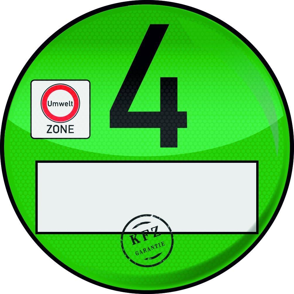 .drivezero Clearcoat Transparente Tr/ägerfolie 98 mm f/ür Umweltplakette//Feinstaubplakette