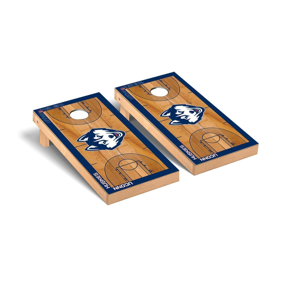 Connecticut UCONN Huskies Regulation Cornhole Game Set Basketball Court Version by Victory Tailgate