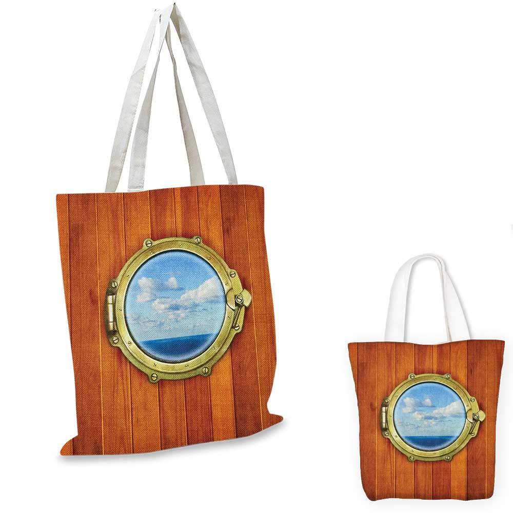 航海士と海の船 太陽の日のガル ポジティブな人生のテーマ ブルー オレンジ ホワイト 12