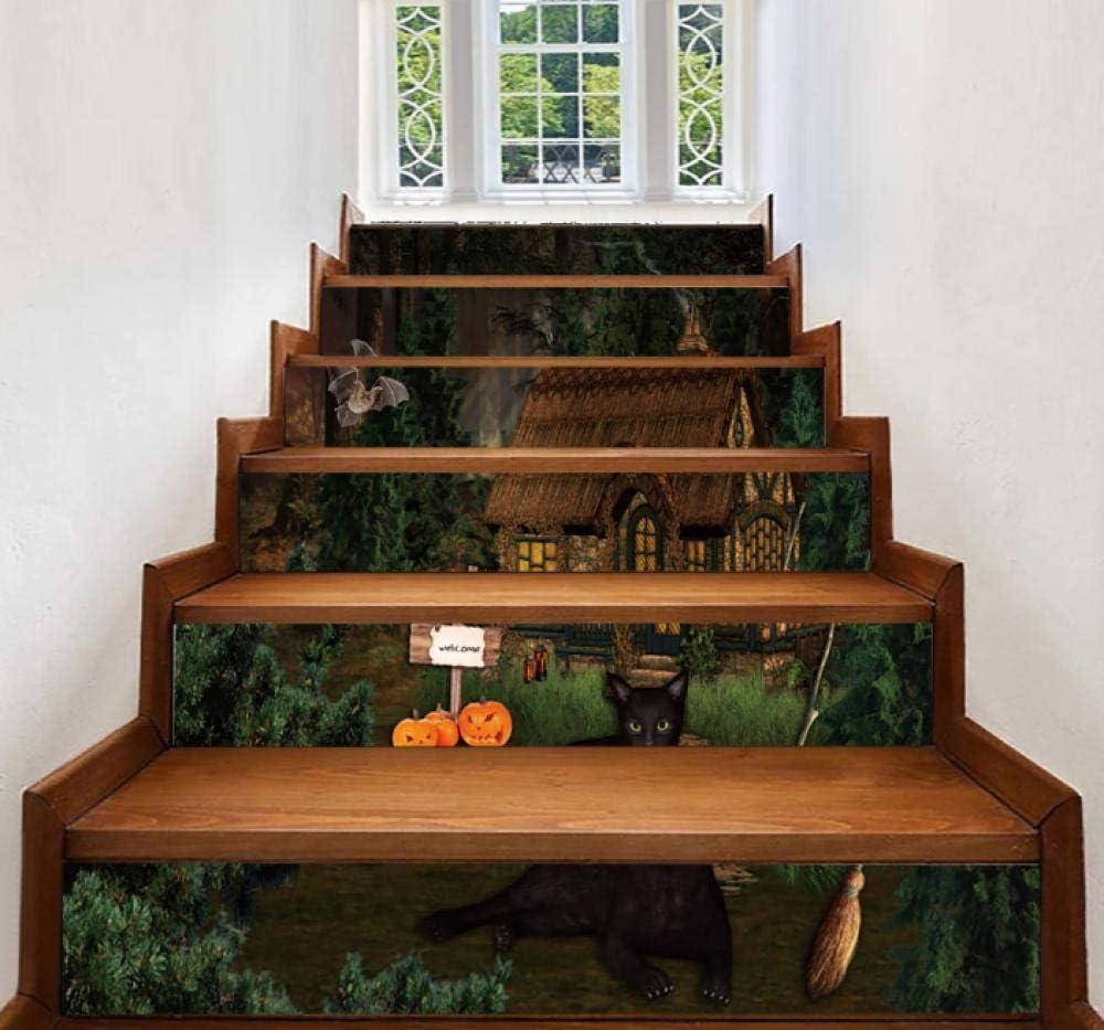 Pegatinas de escalera a prueba de agua selva cabaña casa escalera pegatinas de pared regalos decorativos pegatinas de pared pasillo escaleras pegatinas decorativas pegatinas de PVC: Amazon.es: Bricolaje y herramientas