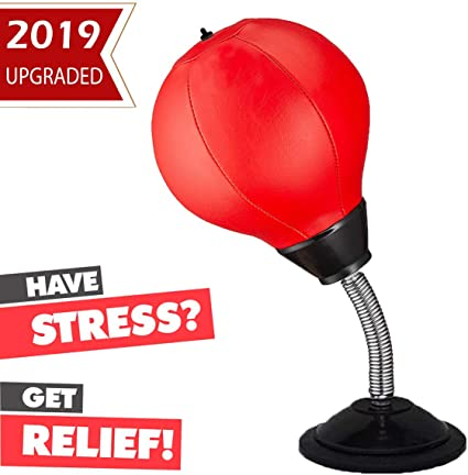 Desktop Punching Bag Office Stress Reliever Ball Suction Cup Stand Boxing Speed