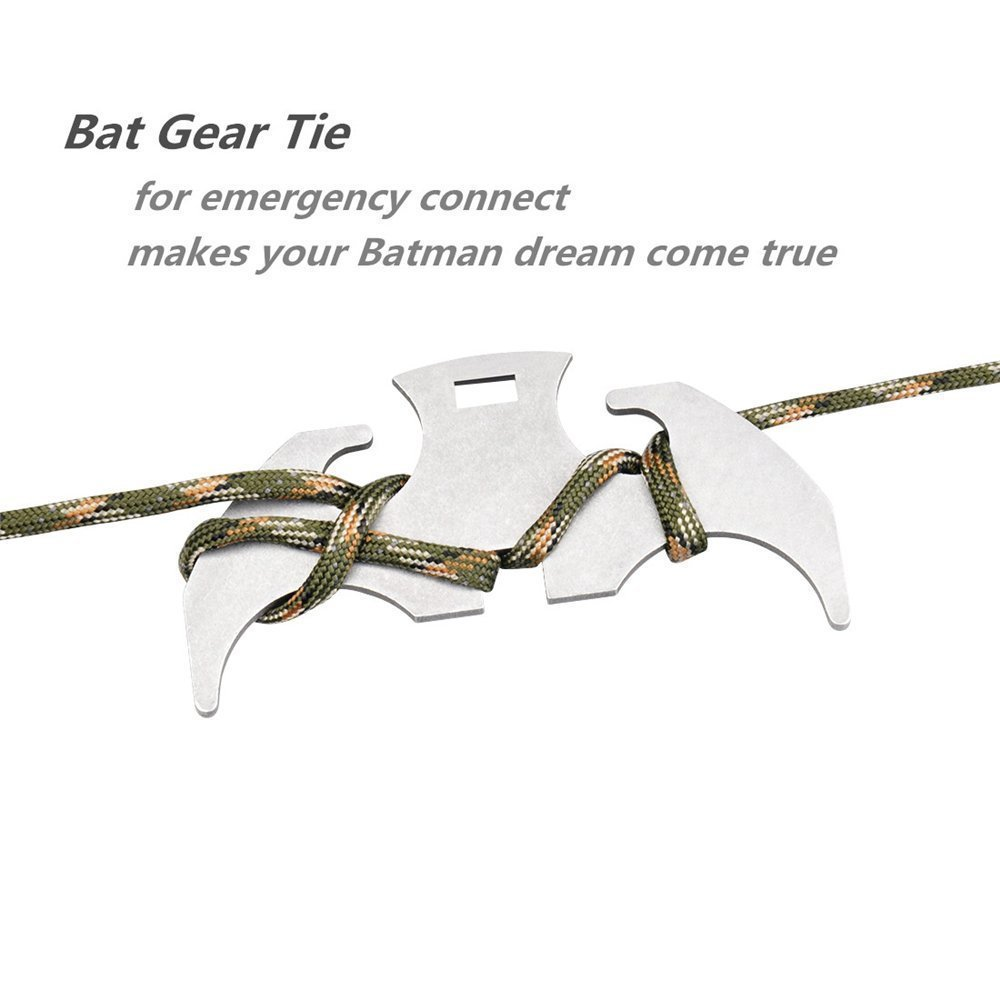 Cyfie Gravity Hook Grappling Hook for Outdoor Activity EDC Tool in Your Bug Out Bag Stainless Steel Climbing Claw Carabiner