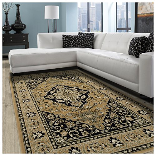 Cheap  Superior Elegant Glendale Collection Area Rug, 8mm Pile Height with Jute Backing,..