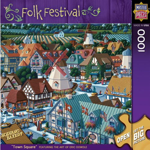 MasterPieces Town Square 1000 Piece Puzzle Folk Festival Collection