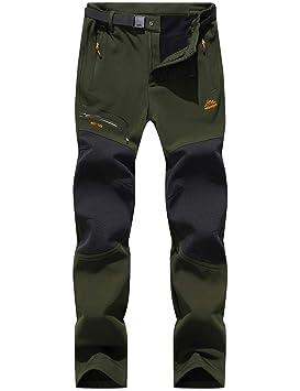tienda elegir despacho variedad de diseños y colores DENGBOSN Pantalones de Montaña Hombre Impermeables Invierno Calentar  Pantalones Trekking Escalada Senderismo Softshell