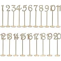 OULII 1-20 números de mesa de madera
