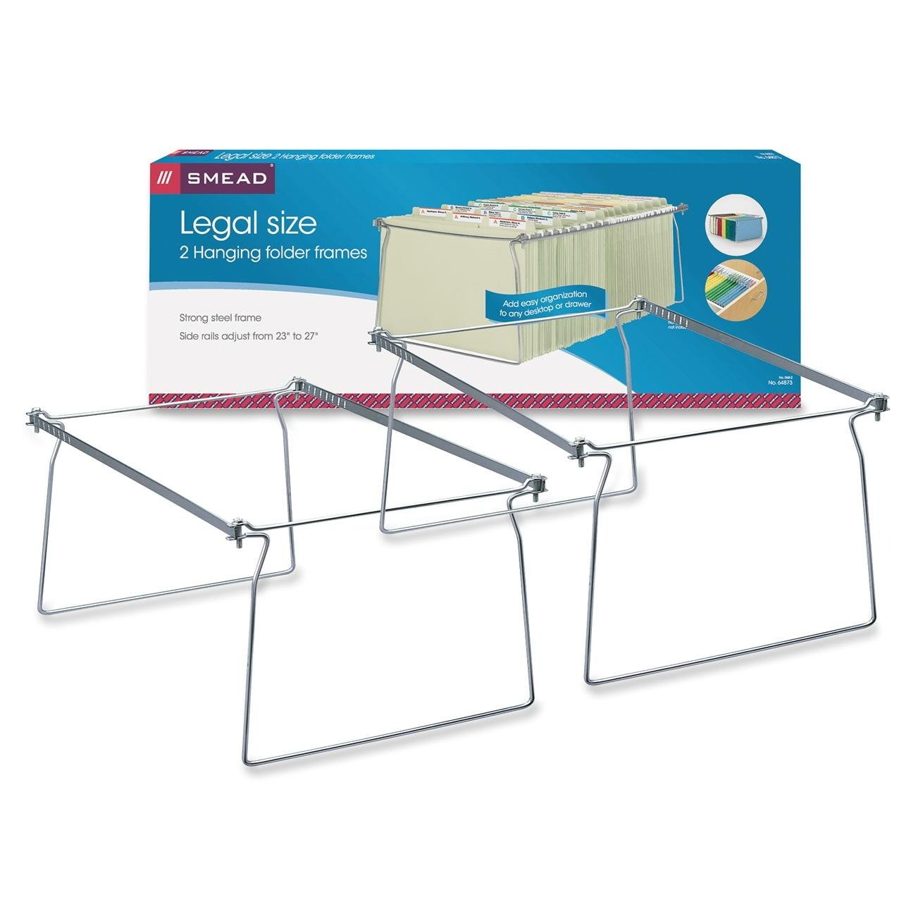 Hanging Folder Frame, Legal Size, 23-27 Long, Steel, 2/Pack 23-27 Long Smead Manufacturing Company 64873